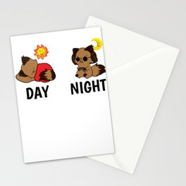 Gamer Level Sleeping Tired Addict funny gift Stationery Cards