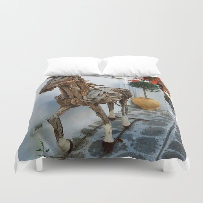 Wood horse Duvet Cover