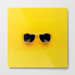 san glasses Yellow Metal Print