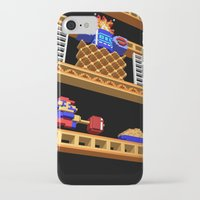 donkey kong iPhone & iPod Cases featuring Inside Donkey Kong stage 2 by Metin Seven