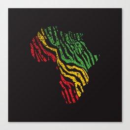 Reggae Africa Canvas Print