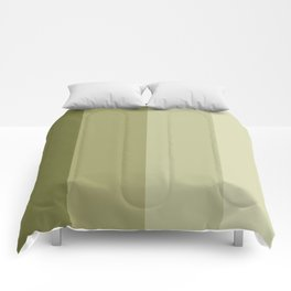 Greenish sea strips Comforters