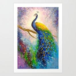 Gorgeous peacock Art Print