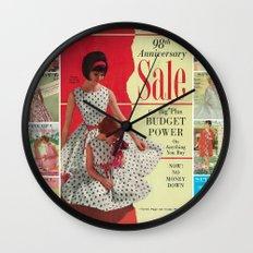 1963 - 98th Anniversary Sale -  Summer Catalog Cover Wall Clock