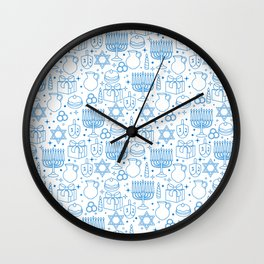 HANUKKAH PATTERN  Wall Clock