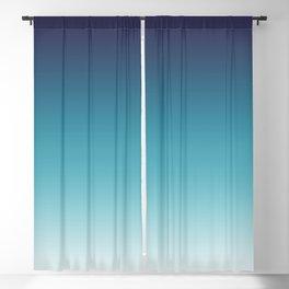 Blue White Gradient Blackout Curtain