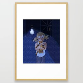 Something Knocks Framed Art Print