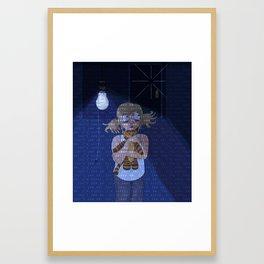 Something Knocks Framed Art Print