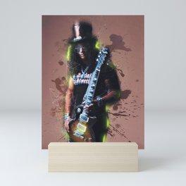 Slash mixed art Mini Art Print