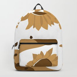 A Pair Of Sunflower, Golden Version Backpack