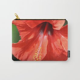 Red Petal and Anther with Pistil of Hibiscus Flower Carry-All Pouch