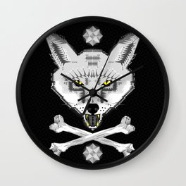 Silver Fox Geometric Wall Clock