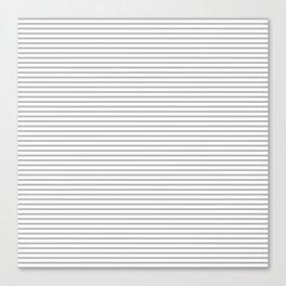Gray Stripes Pattern Canvas Print