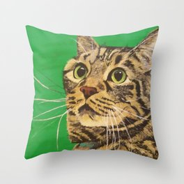 Cat that longs to be a Tiger! Throw Pillow