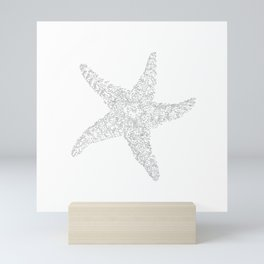 Starfish Bliss Black on White  Mini Art Print