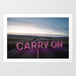 carry on. Art Print