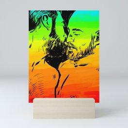 Kiss me! - Rainbow guys share tender moment Mini Art Print