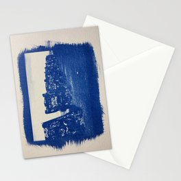 Cyanotype of  Old Car Cemetery in Arizona Stationery Cards