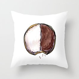 Seinfeld Black + White Cookie Throw Pillow
