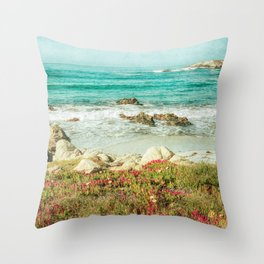 Scenic Photography, Beach, 17 Mile Drive, Monterey, Pebble Beach, Pacific Grove,  Throw Pillow
