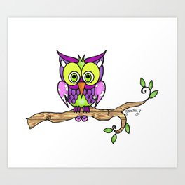 Hootie The Owl Art Print