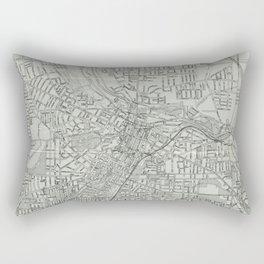 Vintage Map of Akron Ohio (1917) Rectangular Pillow