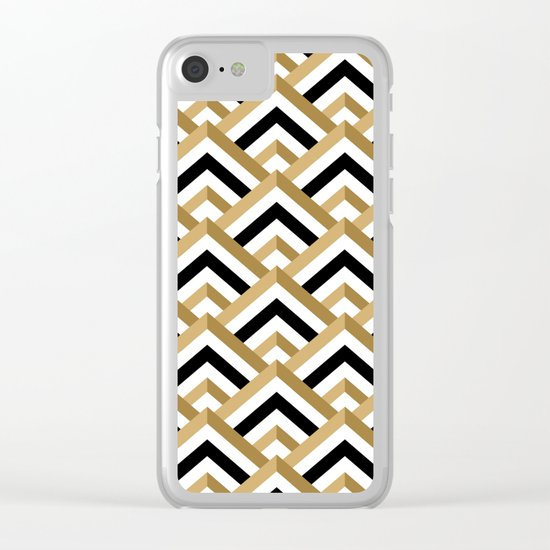 hill pattern Clear iPhone Case