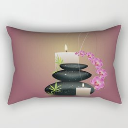 Pebbles with orchid Rectangular Pillow