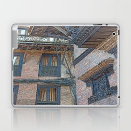 BHAKTAPUR NEPAL BRICKS WINDOWS WIRES Laptop & iPad Skin