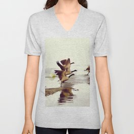 The Take Off - Wild Geese Unisex V-Neck