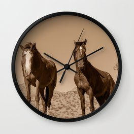 Wild_Horses Sepia 3501 - Nevada Wall Clock
