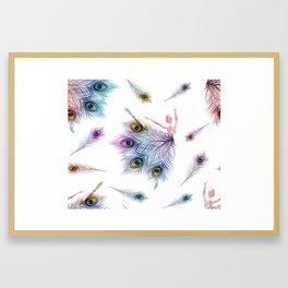 Peacock Dancer Framed Art Print