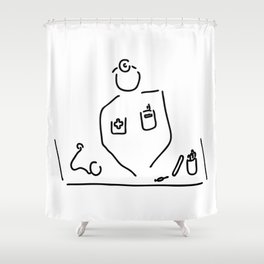 doctor with medicine utensils Shower Curtain