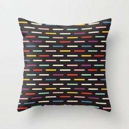 Modern Scandinavian Dash Multi Colour Color Throw Pillow