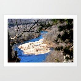 Climbing Up Sparrowhawk Mountain above the Illinois River, No. 6 of 8 Art Print