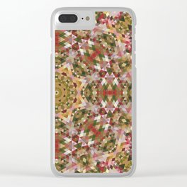 Geometric Mandala 5 Clear iPhone Case
