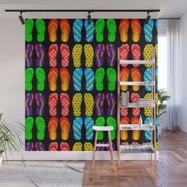 flip flop pattern Wall Mural