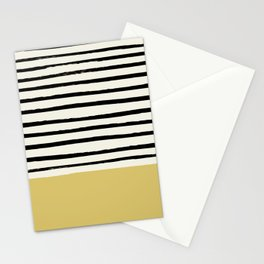 Daffodil Yellow x Stripes Stationery Cards