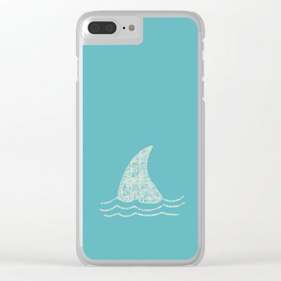 Beach Series Aqua- Shark Animal in the deep See Clear iPhone Case