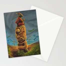 Koshi Greets The Storm Stationery Cards
