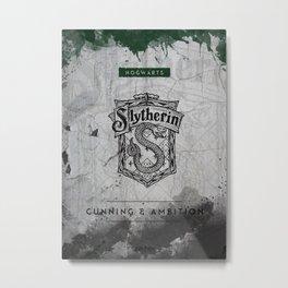 Slytherin HP Metal Print
