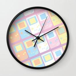 Pastel Gameboy Dreams Wall Clock