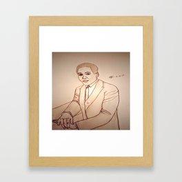 Langston Hughes by Double R Framed Art Print