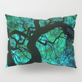 Under The Tree Blue and Green Pillow Sham
