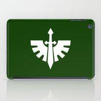 warhammer iPad Cases featuring Warhammer 40k Dark Angels Minimalist Print by Milos Cakovan