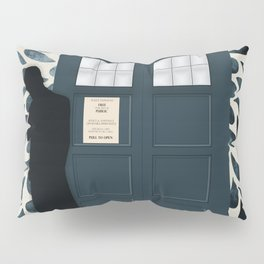 Dr Who and his Timey-Wimey Vehicle Pillow Sham