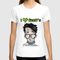 geek T-shirts featuring Geek by Aguamala