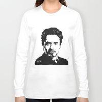robert downey jr Long Sleeve T-shirts featuring Robert Downey Jr. by ArDem