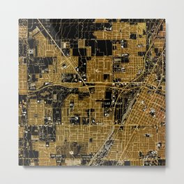 Las Vegas old map year 1967 Metal Print