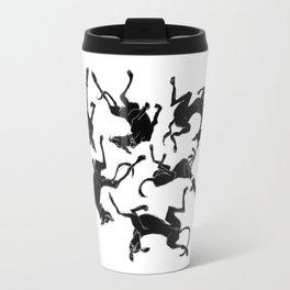 greyhound yoga Travel Mug